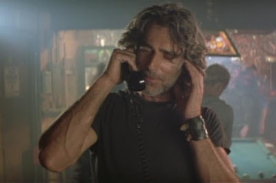 """Sam Elliott as Wade Garrett in Roadhouse (1989). """"Hey, mijo!"""" """"Aw, shit hell son, if I was doin' any better I couldn't live with m'self.""""  """"There's a sign hangin' over the urinal that says, 'Don't eat the big white mint.' """" One of my favorite movies of allll tiiiime!"""