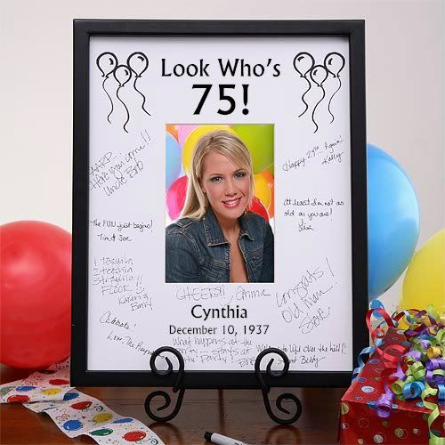75th Birthday Party Signature Frame