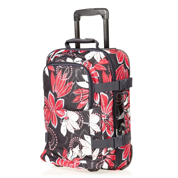 Roxy Valise TRolley Roll With Me Gris Et Rose