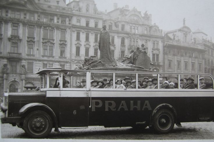 tourists in Prague 26 august 1931 by Atelier Mràz