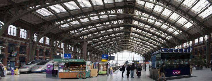 Architecture-> Gare Lille flandre /Lille/ 1848/Léonce Reynaud et Sidney Dunnett/Pierre, métal, verre.
