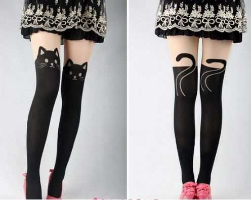 Kitty Tail Tights  Pixel Brunner  If you are into tights :P  I totally want these!