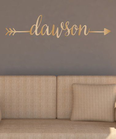 Another great find on #zulily! Gold Arrow Personalized Wall Decal #zulilyfinds