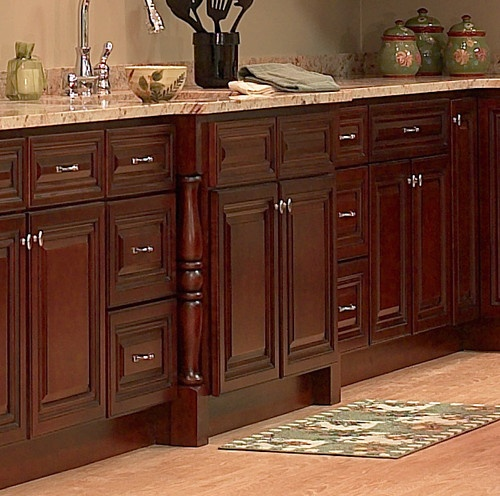 Cherry Kitchen Cabinet Doors: Details About 10x10 All Solid Wood KITCHEN CABINETS GENEVA