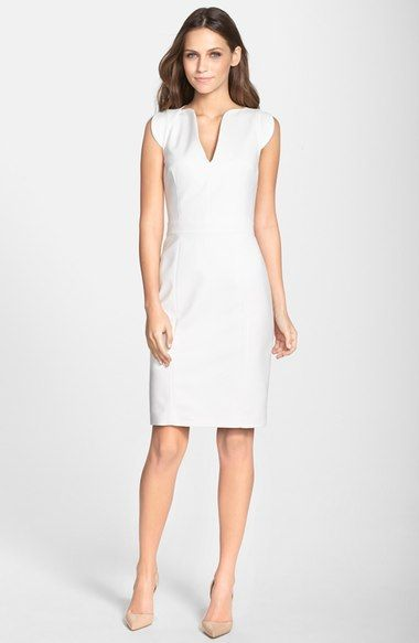 French Connection 'Lolo' Stretch Sheath Dress - White