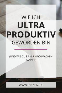 Willst du produktiver arbeiten? Nicht nur effektiv, sondern auch effizient sein? Ich verrate dir mein Geheimrezept für mehr Produktivität, Effektivität und Effizienz.