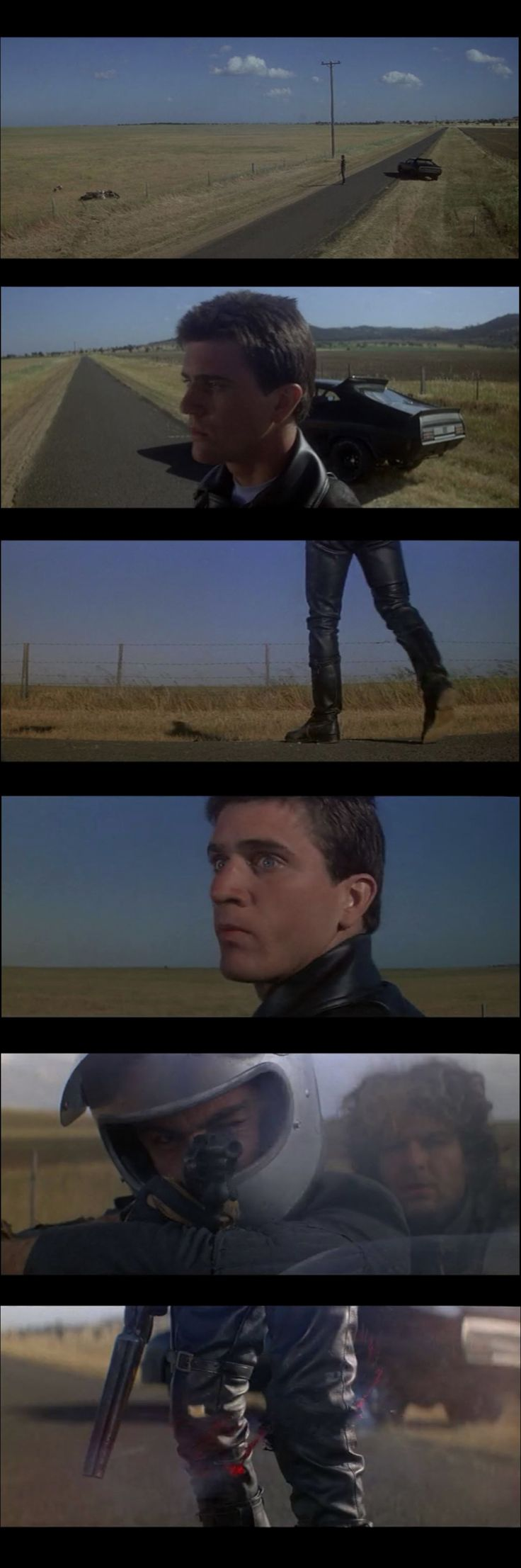 Mad Max (1979) Scene Breakdown #1a:  establishing shot < medium shots < close up #film #filmform #filmmaking