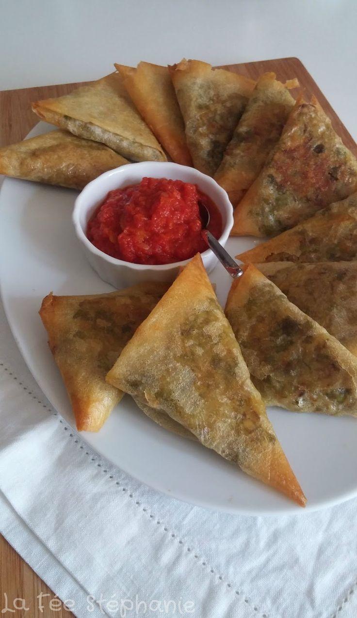 La Fée Stéphanie: Recette des samoussas aux légumes, petite sauce aux épices