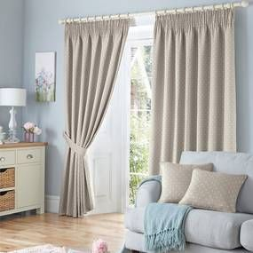 Cotswolds Natural Lined Pencil Pleat Curtains