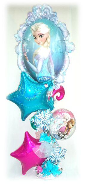 #Arreglo de #Globos #Frozen para las #Princesas del #Hogar!! www.globocentro.com.gt