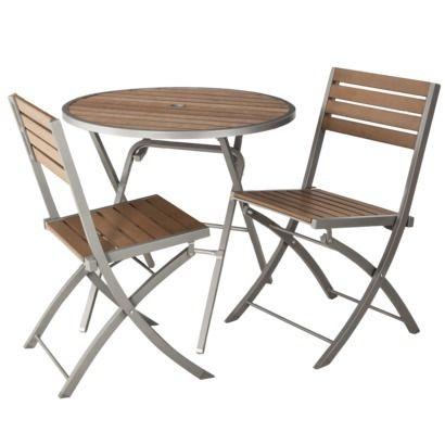 Threshold™ Bryant 3-Piece Faux Wood Patio Bistro Furniture Set  http://www.target.com/p/threshold-bryant-3-piece-faux-wood-patio-bistro-furniture-set/-/A-14892943#prodSlot=large_4_15