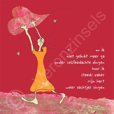 Kleurrijk geïllustreerde krachtige, humoristische teksten die ergens over gaan. Persoonlijke poëtische cadeautjes voor jezelf of voor een ander.