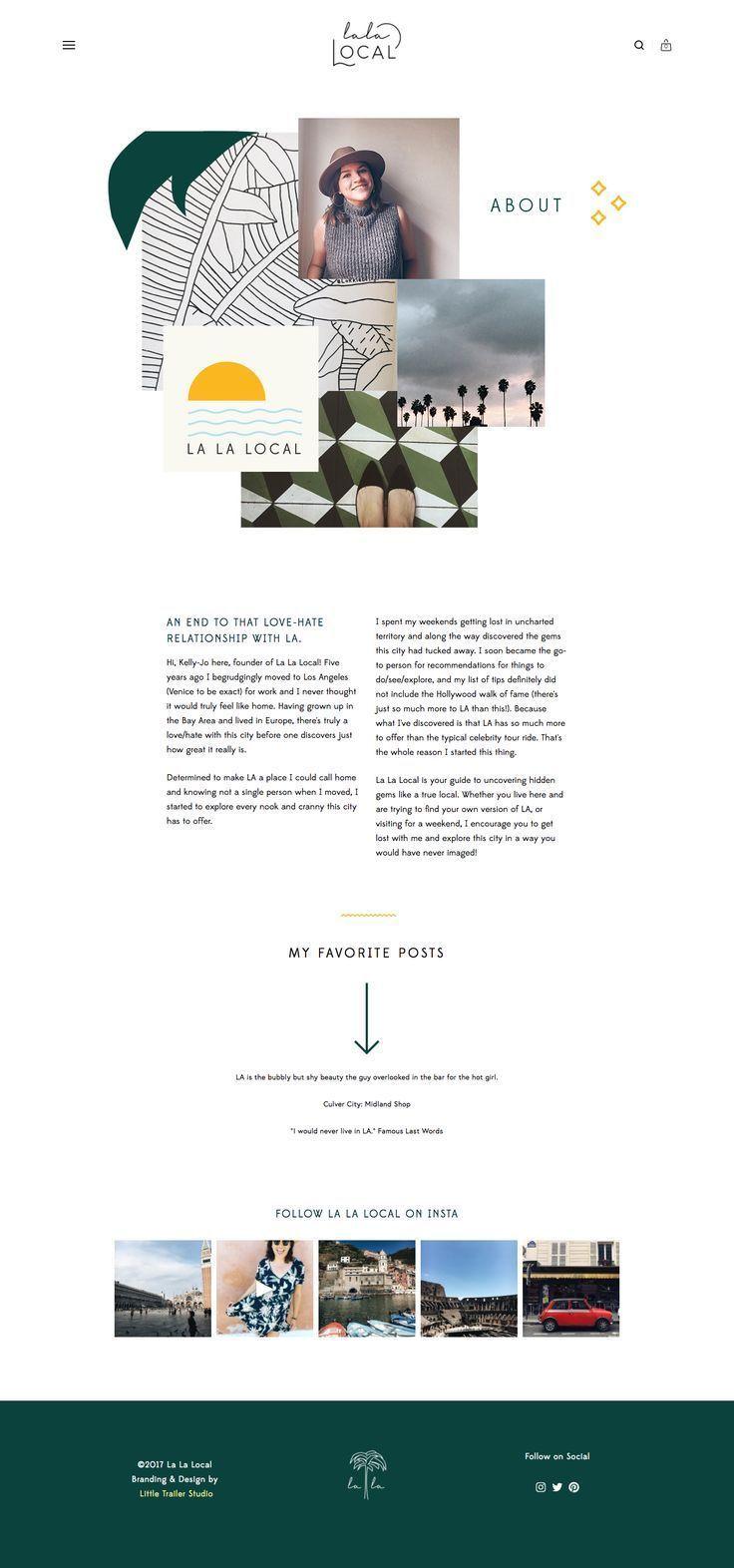 La La Local Branding Website Design About Page By Little Trailer Studio Portfolio Website Design Branding Website Design Simple Website Design