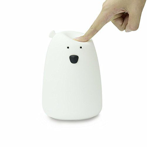 Baby Night Light Silicone Lamp BPA-free Soft Cute Little Bear Nursery Bedside Lamp Sleep Soother Kids Lamp Perfect Gift for Baby Toddler and Kids Tap Control Battery Powered Night Lights for Kids