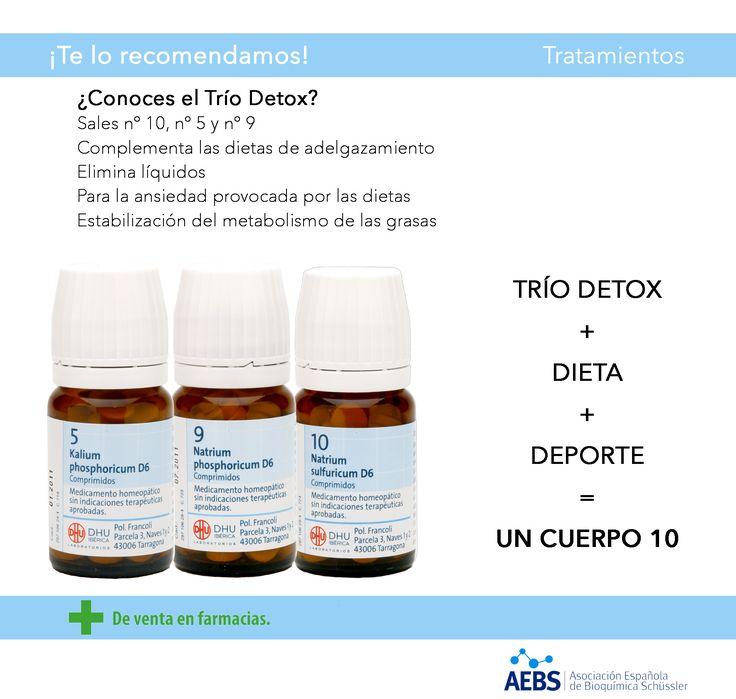 Trío Detox (Sales de Schüssler)