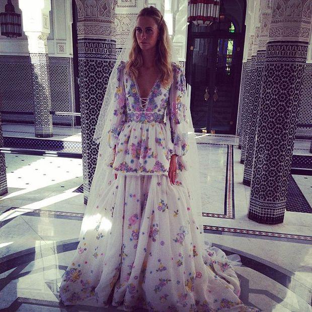 La modelo británica volvió a casarse este fin de semana en Marrakech junto a su hermana Cara y un ejército de amigos