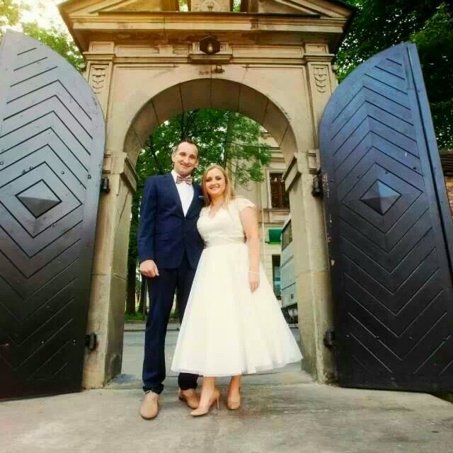 #Our #Bride Kasia in @Sincerity Bridal wedding dress style no. 3700 #tealength and #coffee details like shoes, belt