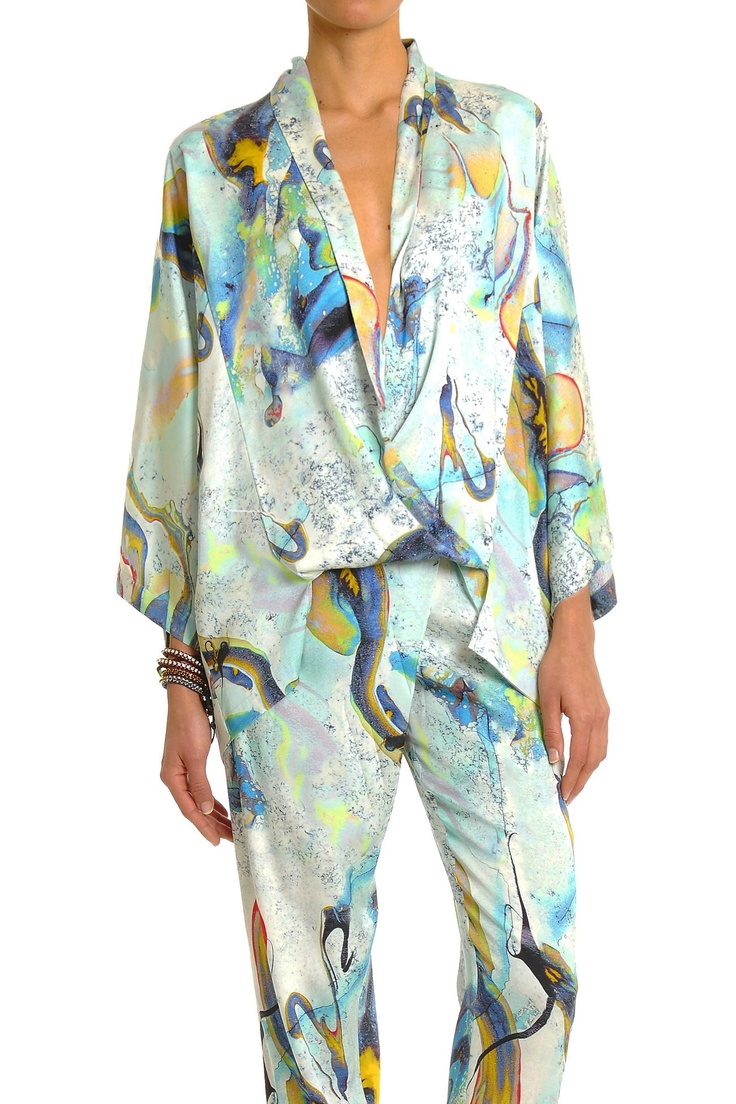 All Clothing - MARBLE PRINT TOP - Lisa Ho - Textile design by Rouse Phillips