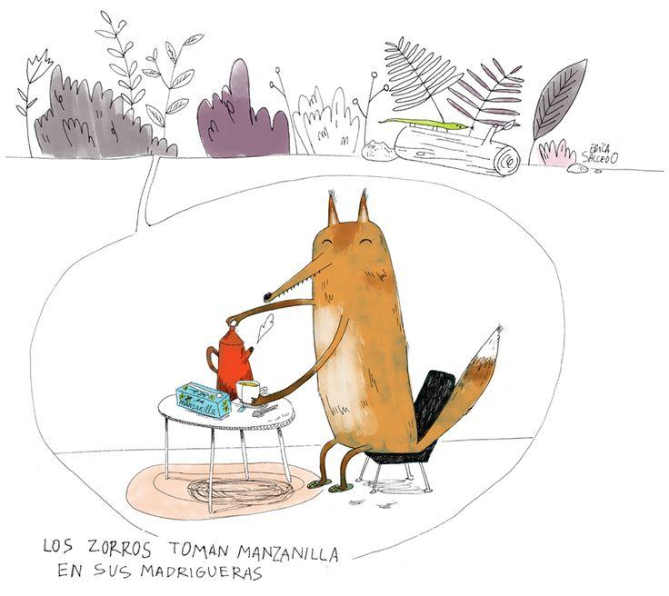 Foxy things - Erica Salcedo Illustration potfolio