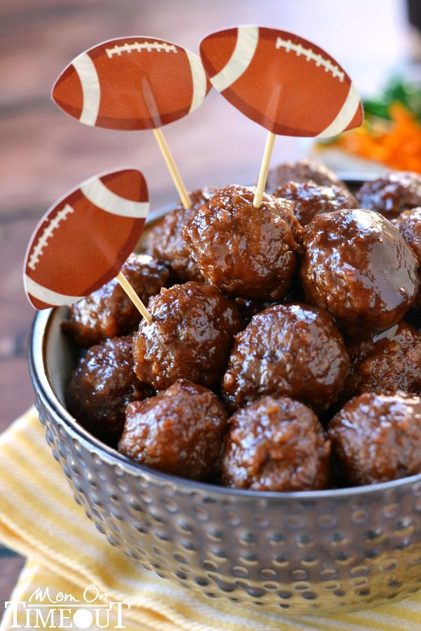 These Slow Cooker Cocktail Meatballs are made with just three ingredients! Guaranteed to be a hit at your next party or tailgate.