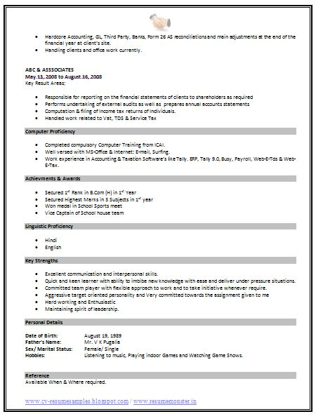 Regular Resume Format Standard Resume Templates To Impress Any - standard format resume