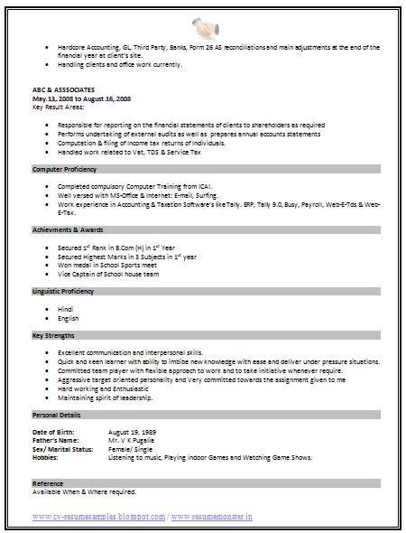 standard format resume page 2 - Standard Format Resume