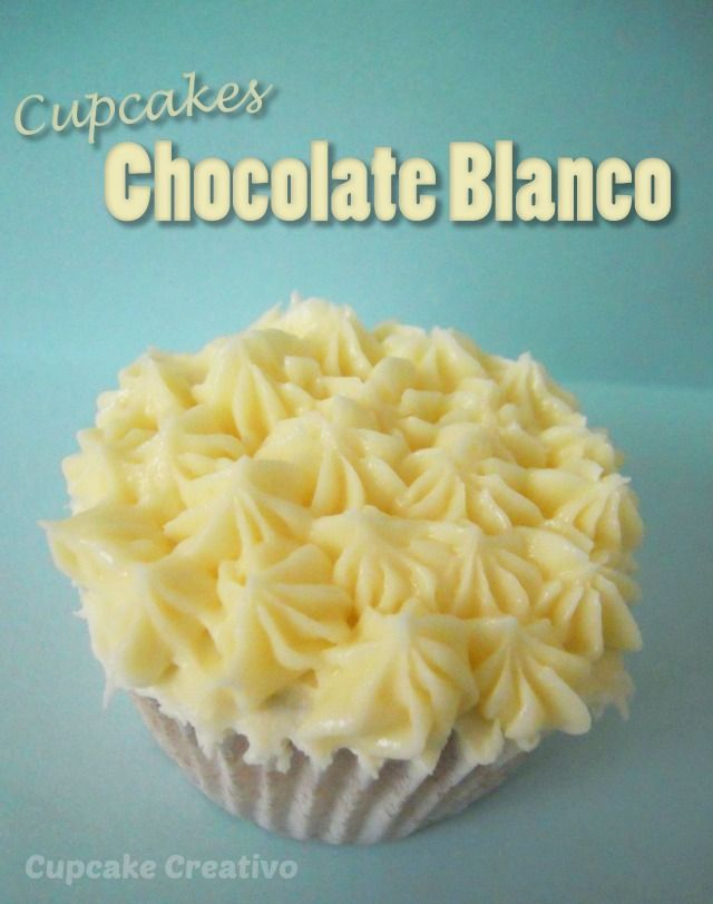 Receta Cupcakes de Chocolate Blanco, Buttercream de Chocolate Blanco
