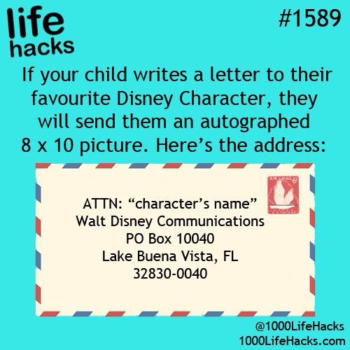 write a letter to a disney character