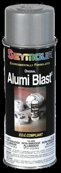 ALUMI BLAST   #16-55     A professional grade coating that restores aluminum wheels and castings to their original luster. Formulated with acrylic resin for best adhesion and maximum durability. Resists corrosion and abrasion, VOC compliant, and does not yellow. Matches OEM color #0642.    Suggested Uses:  Restore aluminum rims  Paint alternators  Refinish intake manifold  www.seymourpaint.com