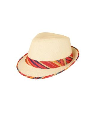 Carraig Donn | Trilby Hat with Trim - Coral €16.95 #SummerEssentials #StrawHat…