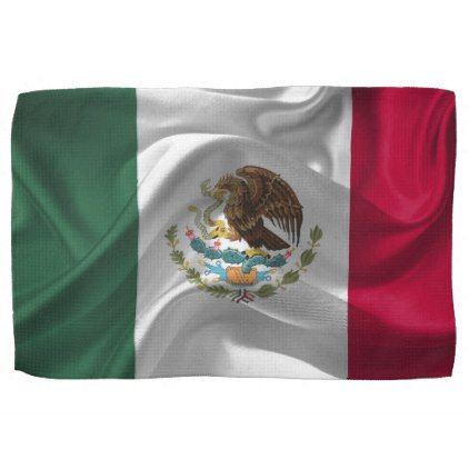#Waving fabic national flag of Mexico Hand Towel - #country gifts style diy gift ideas