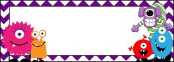 MONSTER NAME TAGS - TeachersPayTeachers.com