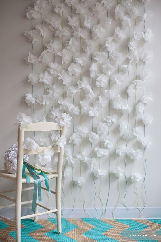 DIY: Cocktail Napkin Flower Garland    Lia Griffith