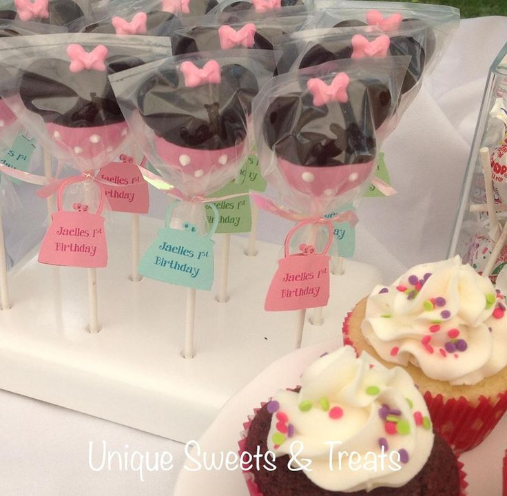 Minnie Mouse Cake Pops Pinterest
