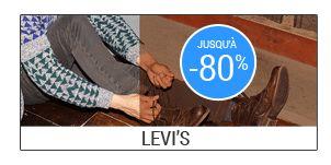 #Soldes #vetement #homme :promo Levis jusqu'à -80%