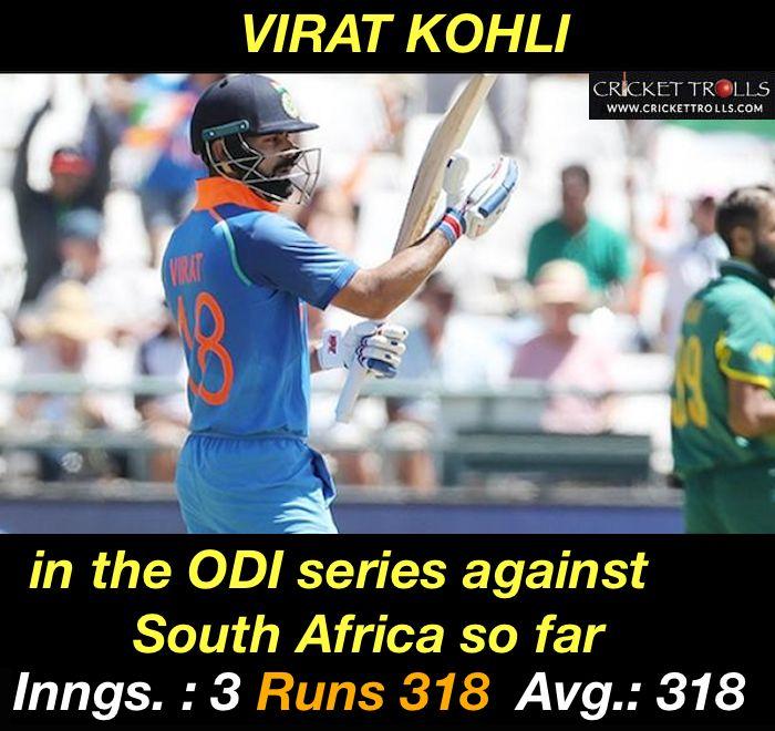 Virat Kohli at his best :) #KingKohli - facebook.com/MyCricketTrolls