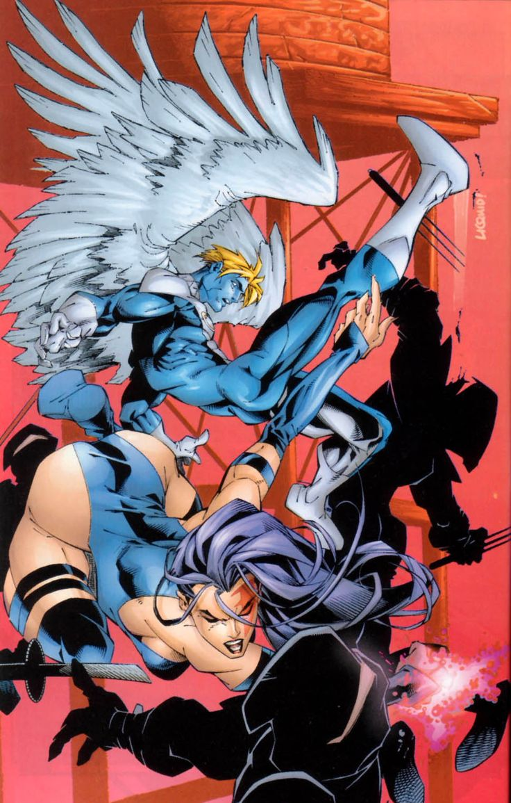 Psylocke and Archangel by Salvador Larroca, colours by Christian Lichtner | Liquid