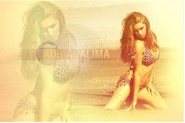 online shopping new x75cm poster wall sticker custom Adriana Lima In Bikini poster for home decorate accept any picture