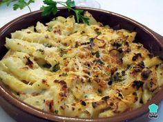 Receta de Macarrones con queso azul y bacon #RecetasGratis #RecetasFáciles #Pasta #Macarrones