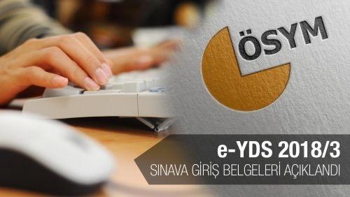 e-YDS 2018/3: Sınava Giriş Belgeleri Açıklandı