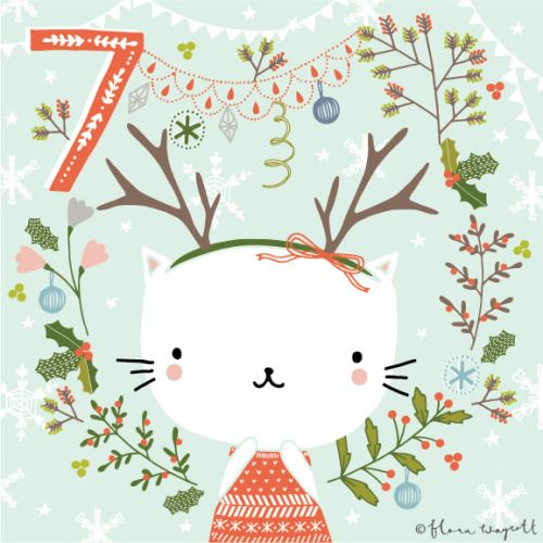 DAY 7 - I'm a cat who likes to pretend she's a reindeer! xxx