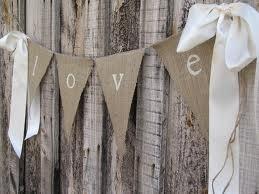 I love the burlap decor! Easy way to express LOVE.