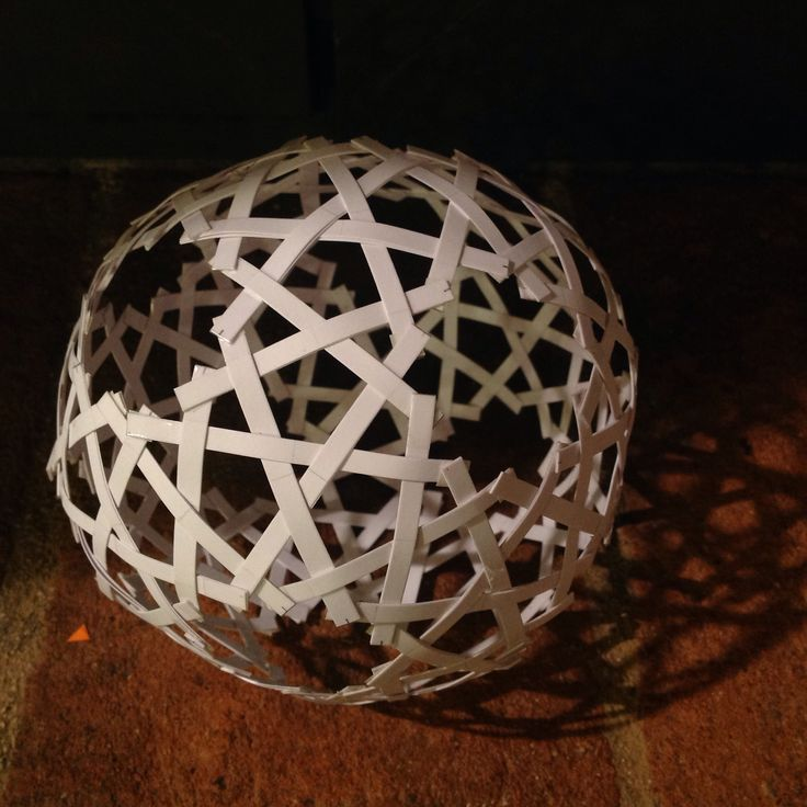 Islamic star sphere pattern