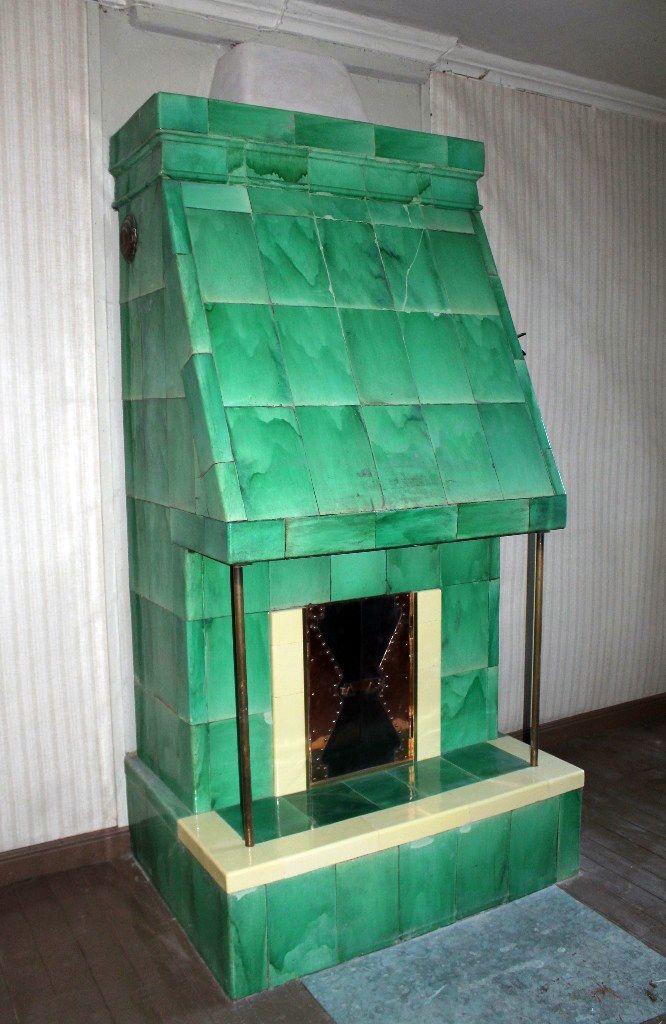 Tiled stove restored.