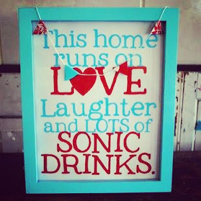 Happiness is found in a Sonic drink.