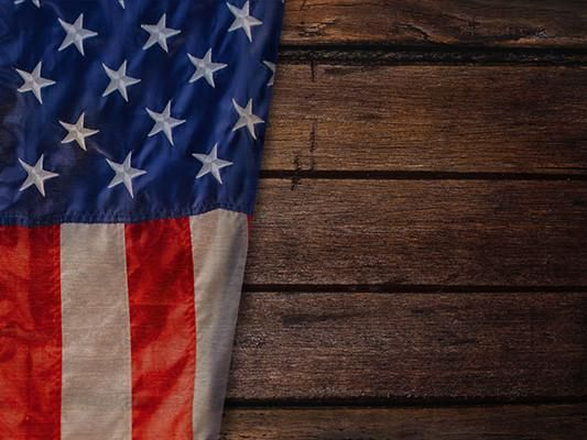 Kate Usa Flag Independence Day Dark Wooden Backdrop