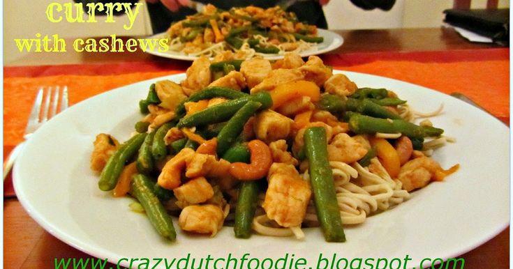 Thai red curry, Chicken curry, Thaise curry met kip en cashewnoten, Thaise rode curry kip