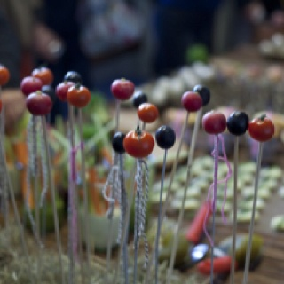 Food installation inspired by Latvian farmlife.  Photography: Berber Theunissen.