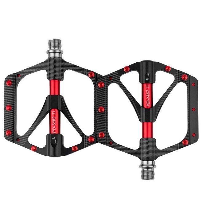 Ultralight Bike MTB Flat Pedals Aluminum Alloy Platform Sealed Bearing Pedal New