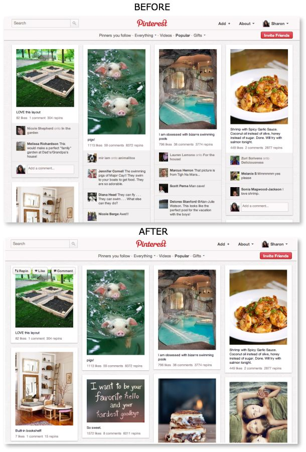 How to hide Pinterest comments